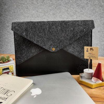 Deri Keçe 13 inç Laptop ve Tablet Kılıfı