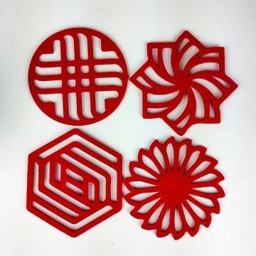 kirmizi geometrik 4lu2
