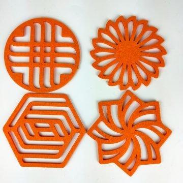 turuncu geometrik 4lu