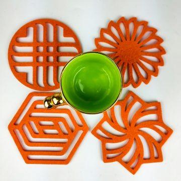 turuncu geometrik 4lu1